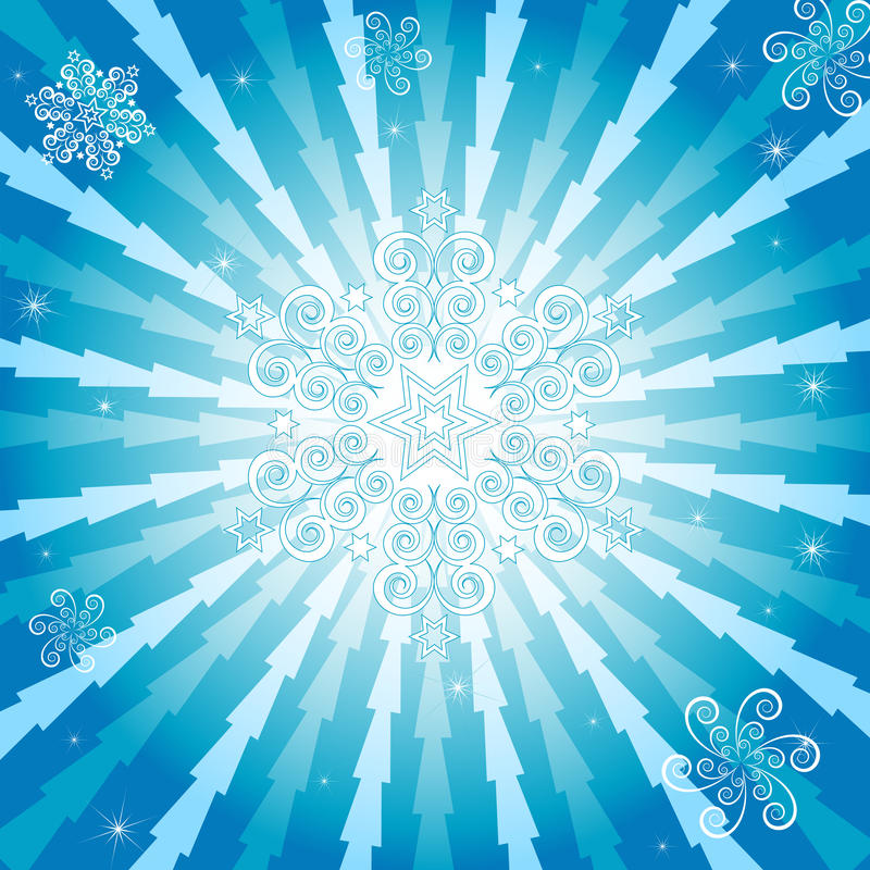 Abstract christmas blue background (vector) vector illustration