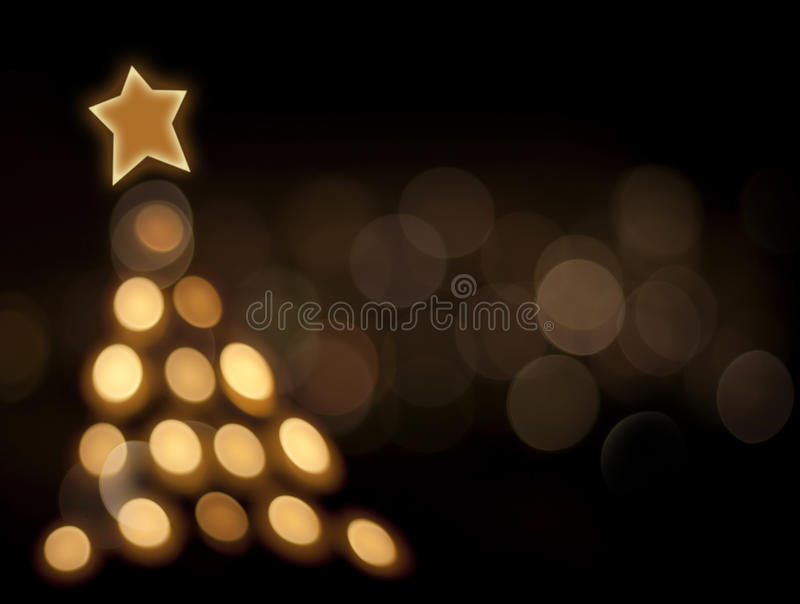 Abstract of christmas bokeh tree. On black background vector illustration