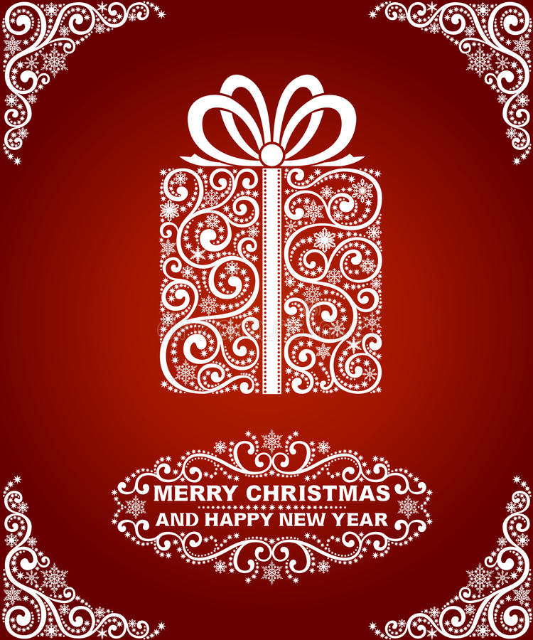 Download Abstract christmas card stock vector. Image of congratulation - 34618375