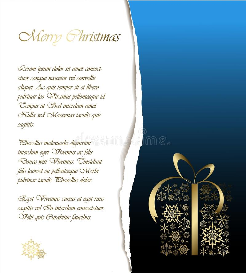 Abstract Christmas Card With Sample Text Stock Illustration ...