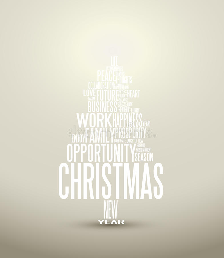 Download Abstract Christmas Card With Season Words Stock Illustration - Image: 21406022
