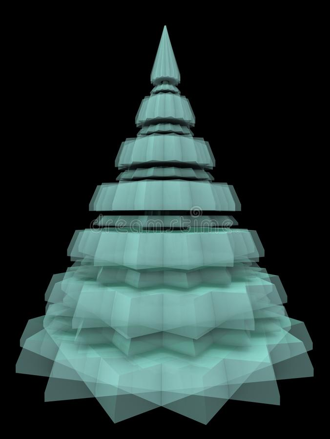 Abstract Christmas Crystal Diamond Tree royalty free stock photography