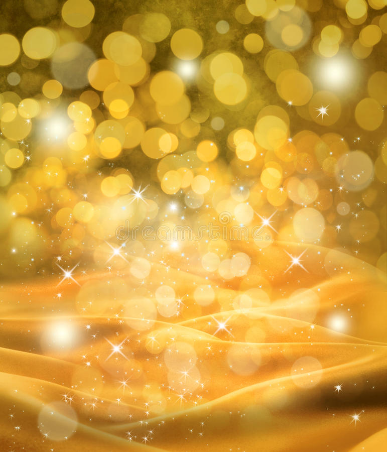 Free Abstract Christmas Gold Satin Background Stock Photography - 26817832