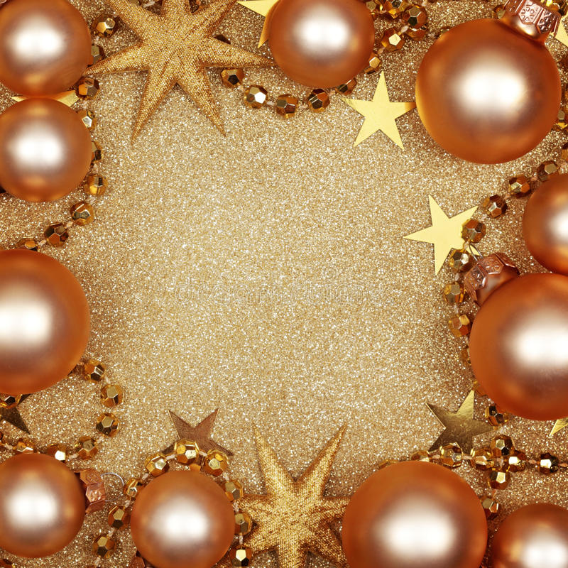 Abstract Christmas Golden Background Stock Photos