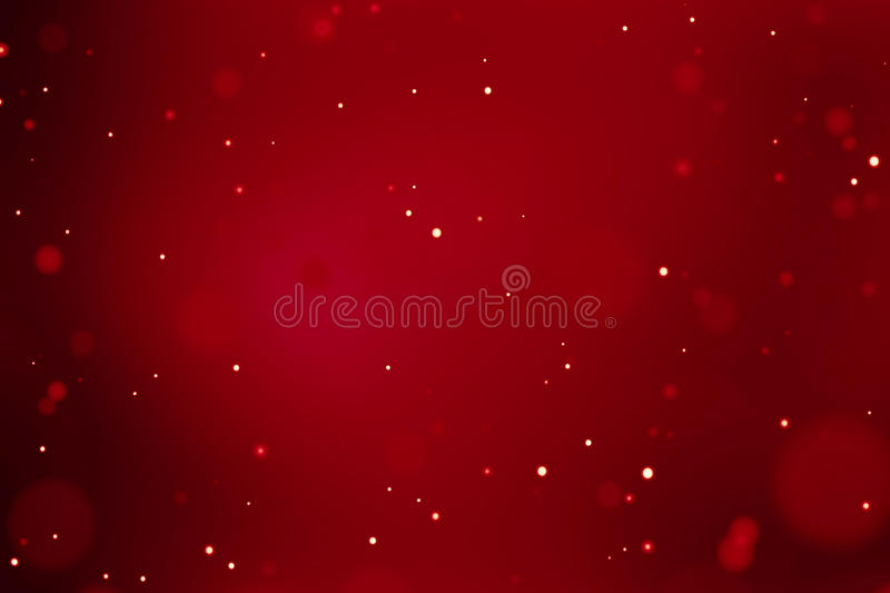 Abstract christmas gradient red background with bokeh flowing, festive holiday happy new year vector illustration