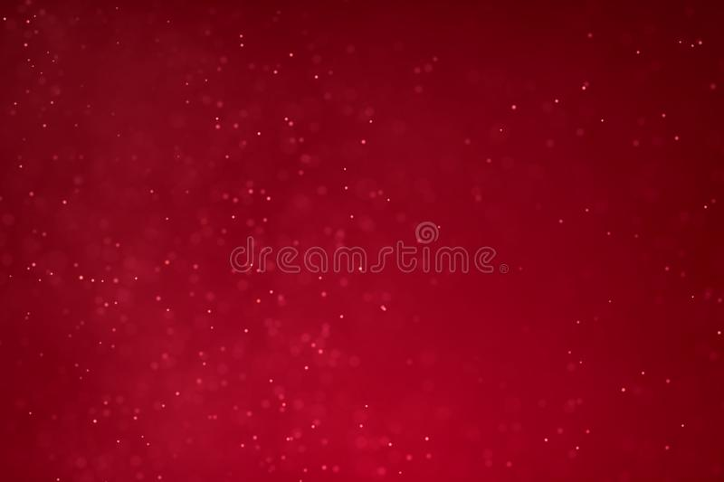 abstract christmas gradient red background with red bokeh flowing, valentine day love relationship holiday event festive concept vector illustration