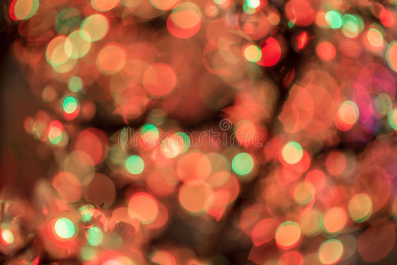 Abstract Christmas and Happy New years bokeh background. For design pattern royalty free stock photo
