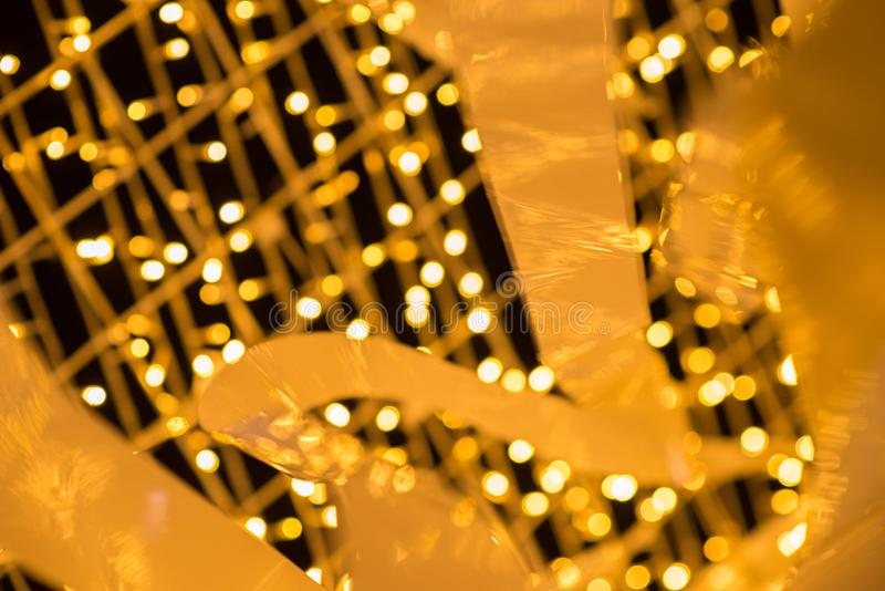 Abstract Christmas and Happy New years bokeh background. For design pattern stock photo