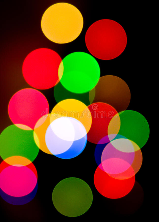 Abstract Christmas lights royalty free stock photos