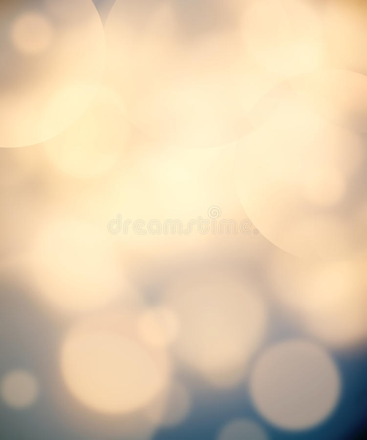 Abstract christmas lights on background. Festive background wit. H defocused Golden bokeh royalty free stock photography