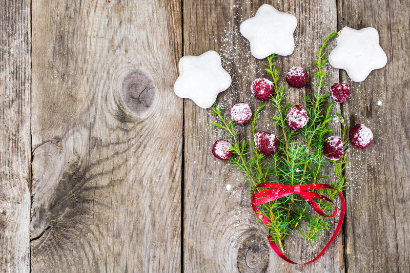Abstract Christmas and New Year Background with Old Vintage Wood royalty free stock photography