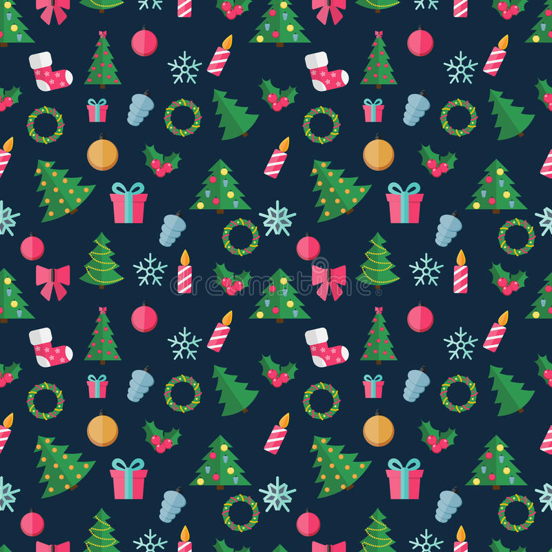 Abstract Christmas and New Year Seamles Pattern. Background. Vector Illustration EPS10 stock illustration