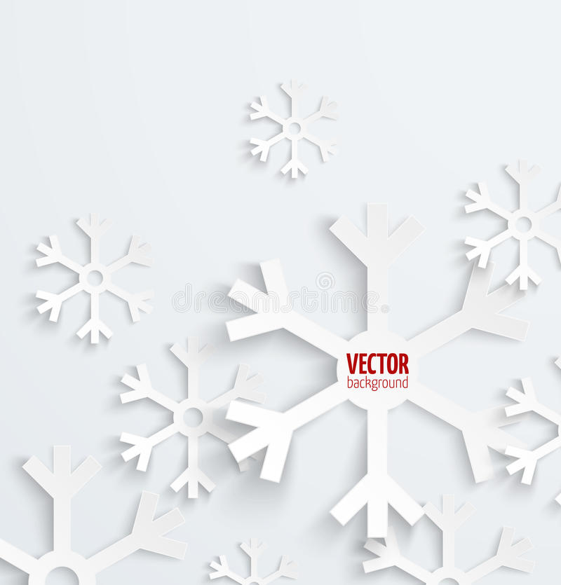 Abstract christmas snowflake paper 3D backbround royalty free illustration