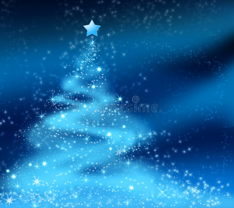 Abstract christmas tree royalty free illustration
