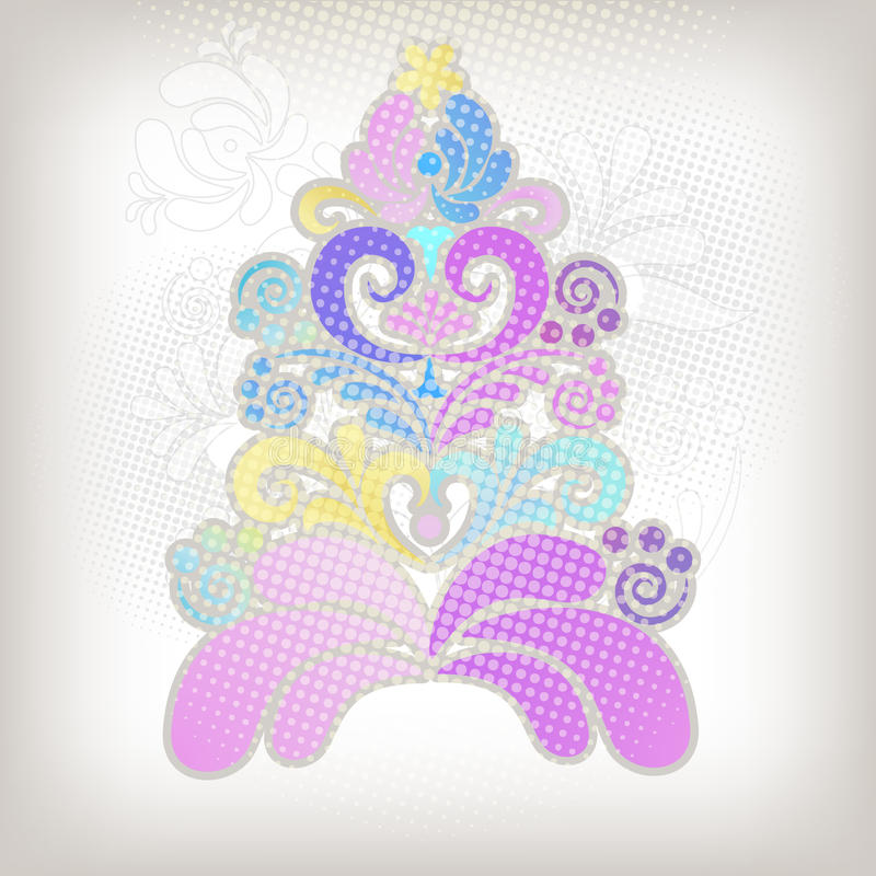 Download Abstract Christmas tree stock illustration. Image of year - 16735015