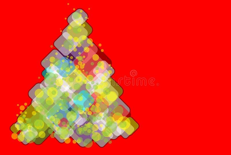 Abstract christmas tree royalty free stock image