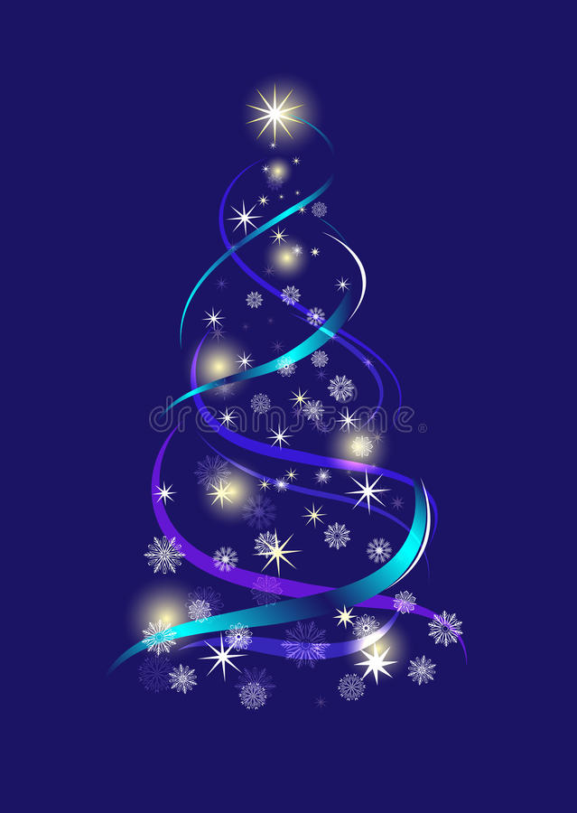 Download Abstract Christmas tree stock vector. Image of celebrate - 25738972