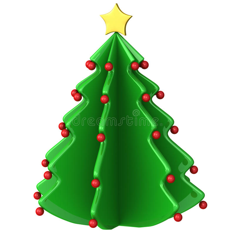 Abstract christmas tree 3d royalty free illustration
