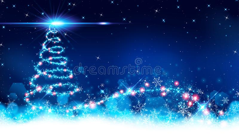 Abstract of christmas tree background royalty free illustration