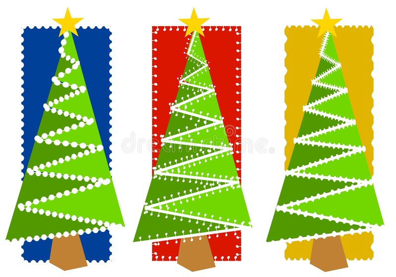 Abstract Christmas Tree Backgrounds 2 stock illustration