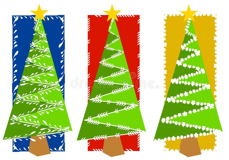 Abstract Christmas Tree Backgrounds vector illustration