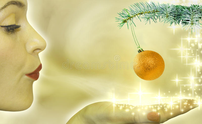 Abstract of christmas tree and buble. Abstract of christmas tree and baubles stock illustration