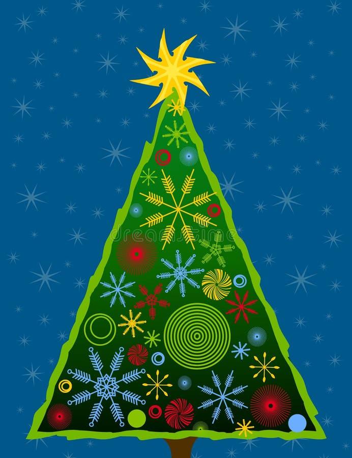 Abstract Christmas Tree Card 3 stock image