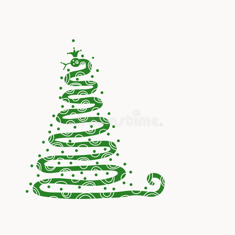 Download Abstract Christmas Tree Design With Snake Shape, Stock Vector - Illustration: 28931921
