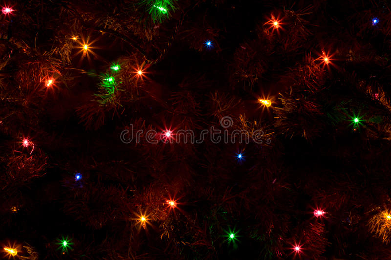 Abstract of Christmas Tree Lights