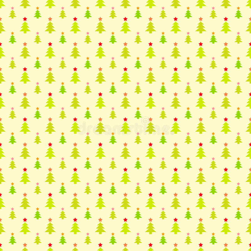 Free Abstract Christmas Tree Pattern Wallpaper. Vector Royalty Free Stock Image - 34951316