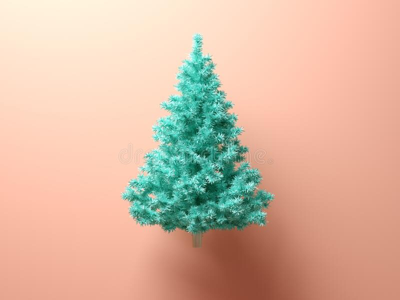 Abstract christmas tree on pink background royalty free stock images
