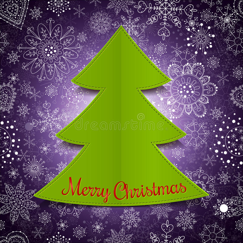 Download Abstract Christmas Tree And Violet Background Royalty Free Stock Photo - Image: 34217785