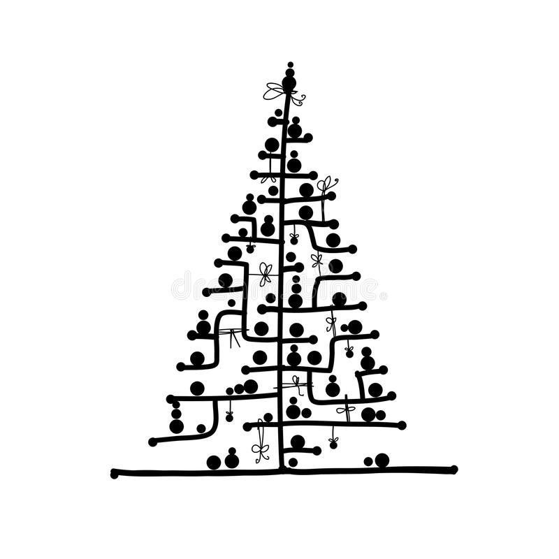 Abstract Christmas Tree For Your Design Royalty Free Stock Photography