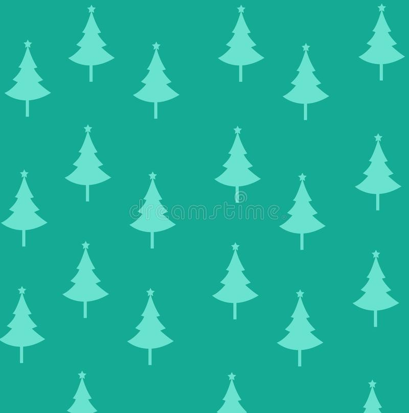 Abstract christmas trees illustration with colored background. Abstract christmas trees vector illustration with colored background royalty free illustration