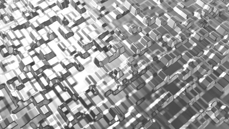 Abstract chroom roestvrij getextureerde achtergrond Industrie- en materiaalconcept 3D-illustratie grafisch ontwerp Oppervlakte en royalty-vrije illustratie
