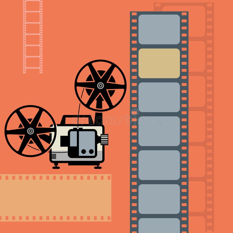 Abstract cinema background. Color illustration royalty free illustration