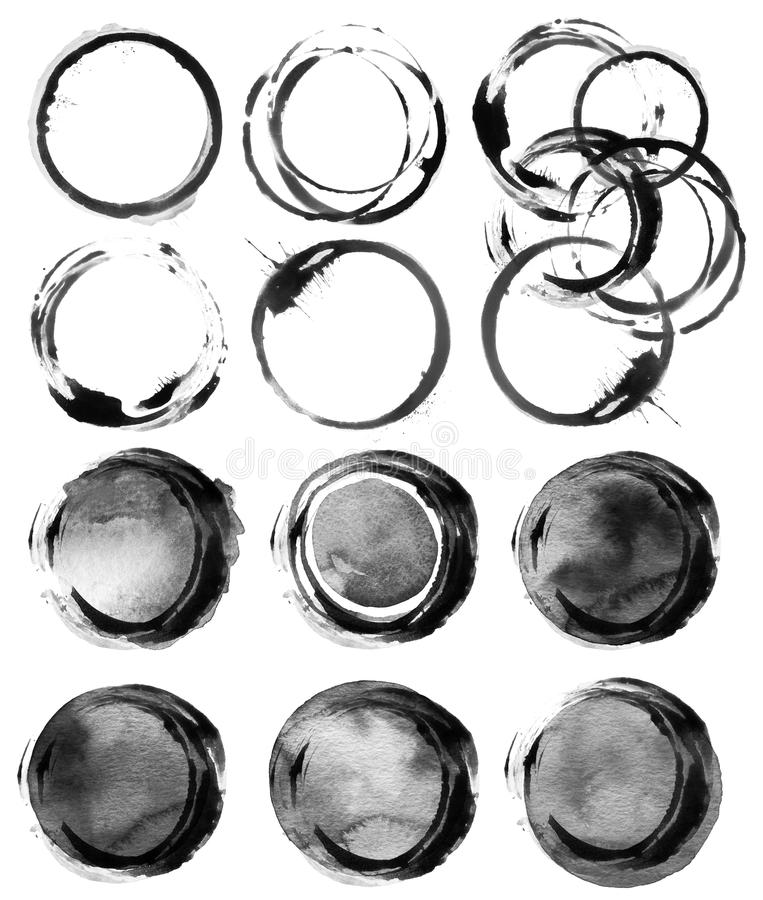 Free Abstract Circle Acrylic And Watercolor Painted Background. Stock Photos - 61617613