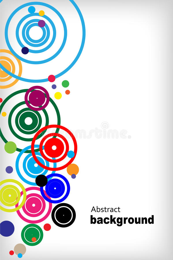 Abstract circle background vector illustration