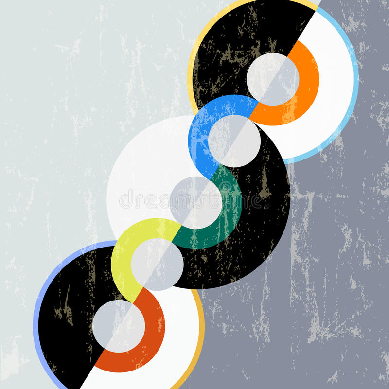 Abstract circle background royalty free illustration