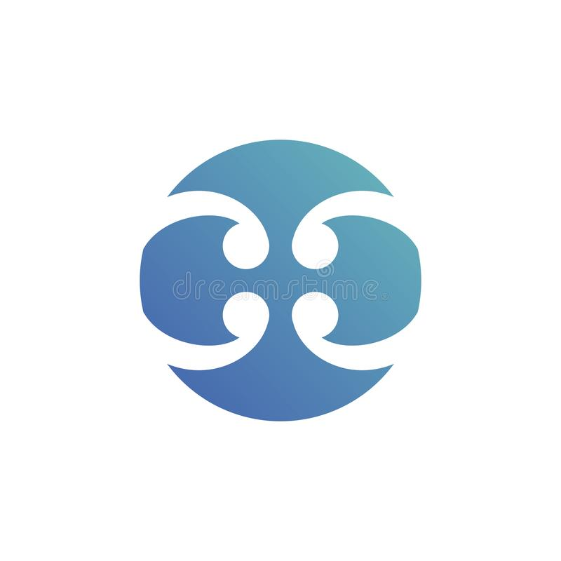 Abstract circle blade logo sign. material design, Vector royalty free illustration