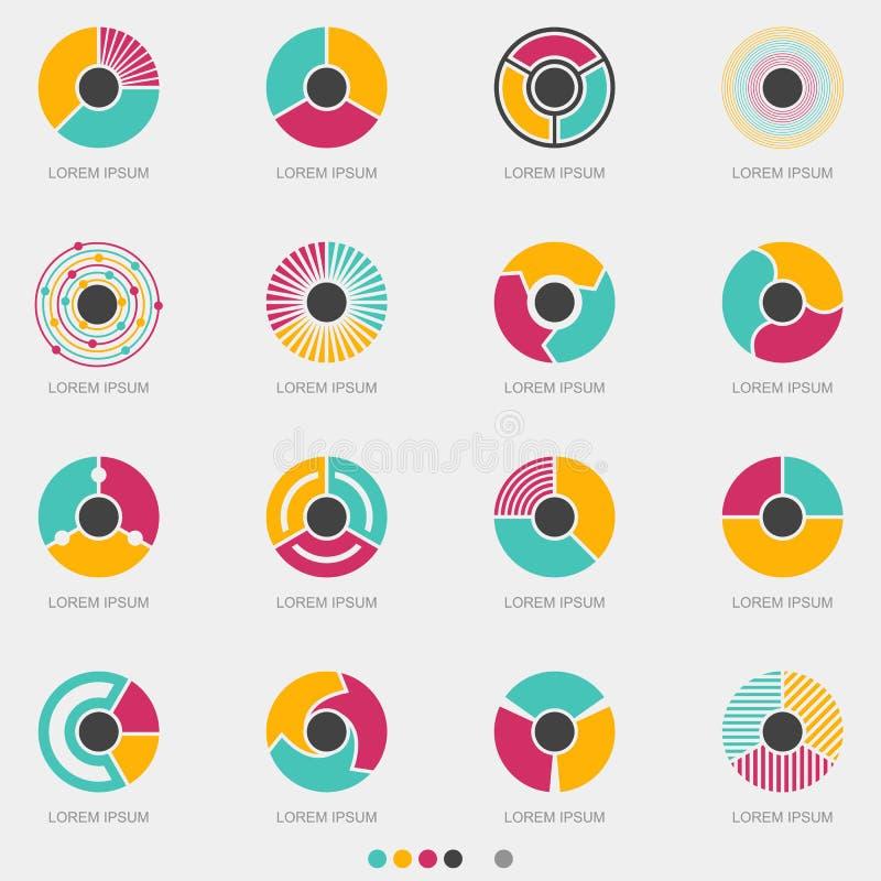 Abstract Circle Button Logo Set - Vector royalty free illustration