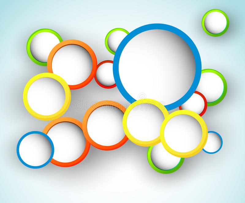 Abstract Circle Design stock illustration