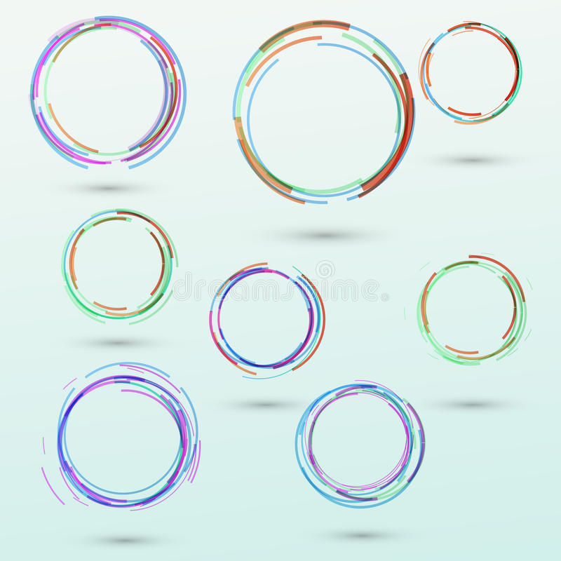 Abstract circle design elements collection stock illustration