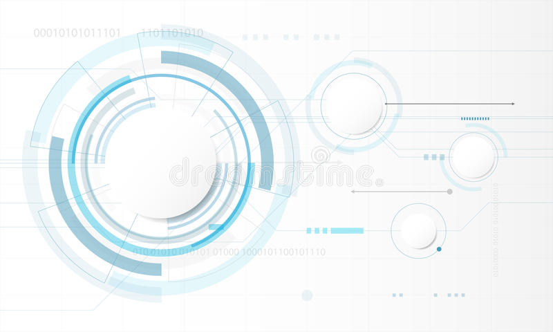 Abstract Circle digital technology background, futuristic structure elements concept background. Design vector illustration