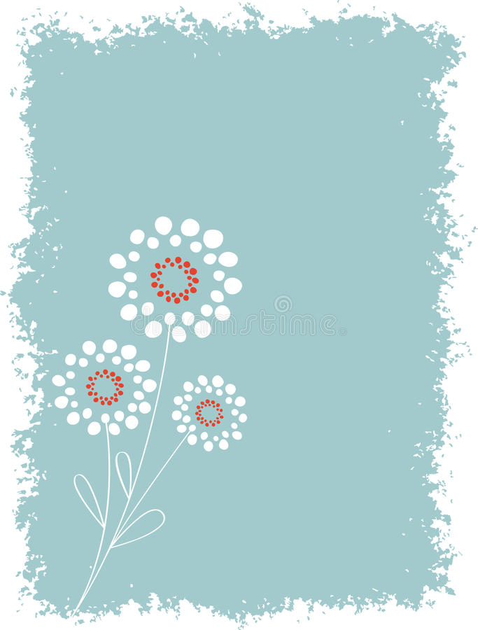 Download Abstract Circle Floral With Grunge Background Stock Vector - Illustration of grunge, floral: 9944527