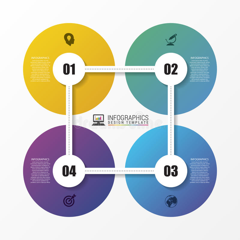 Abstract circle. Infographic design template. Vector royalty free illustration