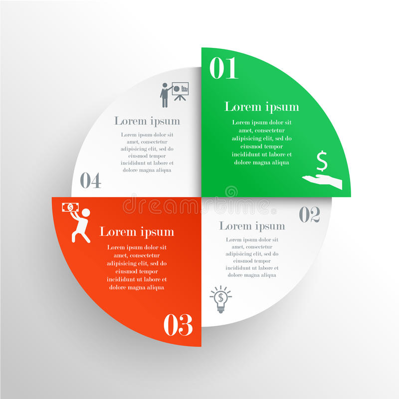 Abstract circle infographic vector illustration