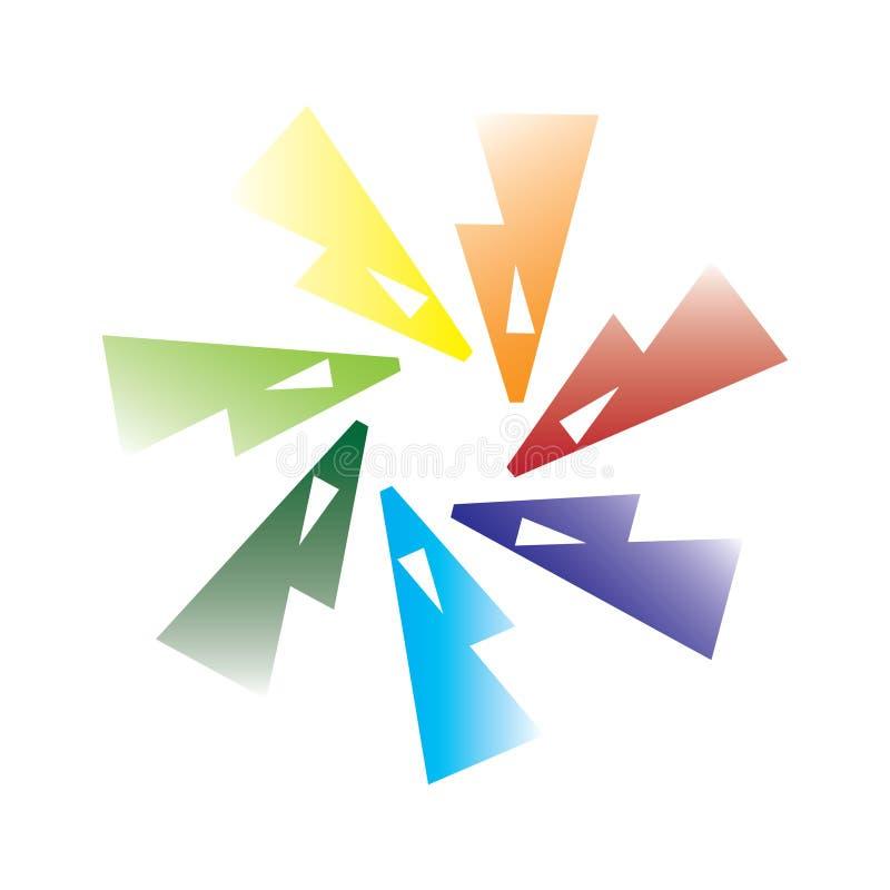 Abstract circle logo illustration. Abstract circle logo creative design stock illustration