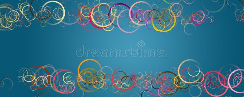 Abstract circle panorama design royalty free illustration