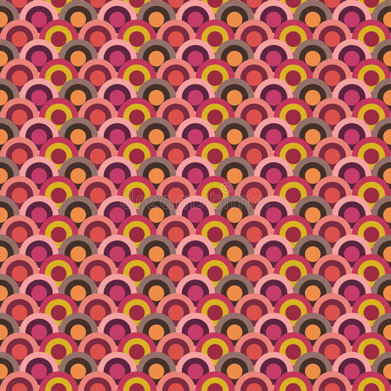 Abstract circle pattern wallpaper. Endless texture can be used for printing onto fabric, paper or scrap booking, wallpaper, pattern fills, web page background stock illustration